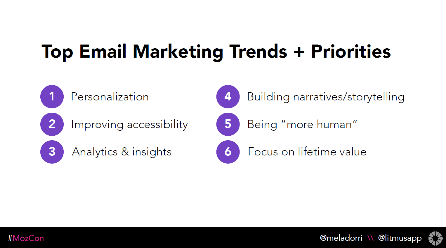 Top Email Marketing Trends and Priorities - Justine Jordan, MozCon 2018